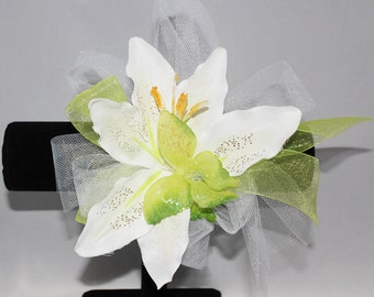 Lovely Lime Green Butterfly Corsage