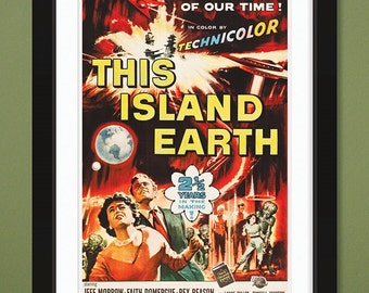 Movie Poster – This Island Earth 1955 (12x18 Heavyweight Art Print)