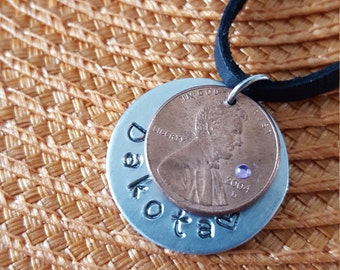 Set of 2: Lucky Us Penny Best Friends Necklaces