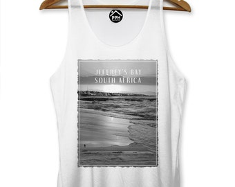 Jeffreys Bay South Africa Vest Surf Singlet Sleeveless Tank Famous Surfing PP119
