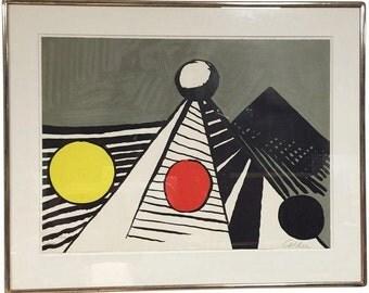 Alexander Calder Vintage Signed Modern Lithograph