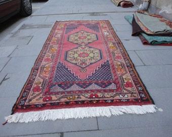 Vintage rug,Area rug,boho rug,pastel color rug,77 x 38 inches,floor rug,living room rug,turkish oushak rug,hand made Turkish rug,peerless !!