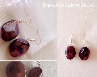 Bijoux Jelly Two Coloured Pebble Earrings