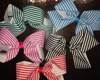 Large striped bows