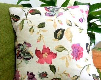 Decorative Throw Pillow - Beautiful Flowers - Pillow Insert INCLUDED