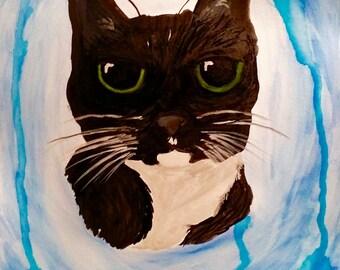 """Watercolor Pet Portrait 11""""x15"""""""