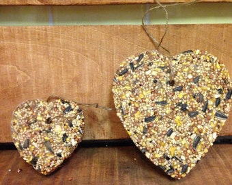 10 Medium Heart or Big Heart Bird Seed Feeders