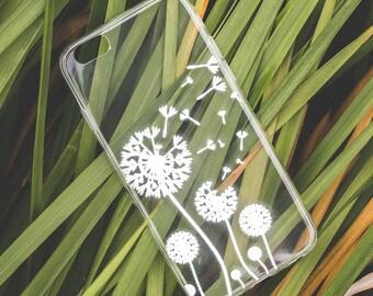 Dandelion iPhone Case iPhone 8 Case iPhone 8 Plus Case iPhone 7 Case iPhone 7 Plus Case iPhone 6s Case iPhone 6s Plus Case Clear iPhone Case