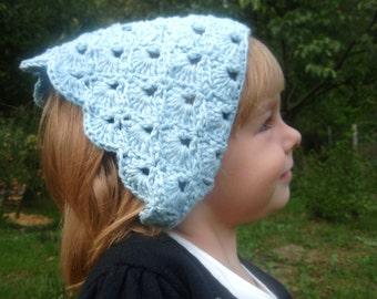 Chloe kerchief, crochet kerchief pattern, neckerchief, headkerchief, crochet warmer DIY