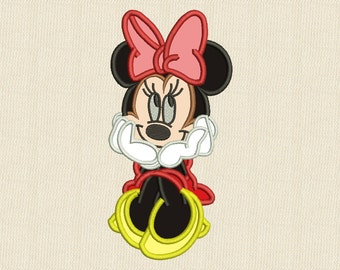 Minnie Mouse Applique Machine Embroidery Design Disney 4 Sizes