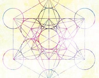 Metatron's Cube Sticker 3 x 3
