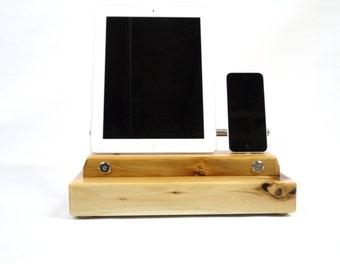 Universal ipod dock, ipad dock, cedar