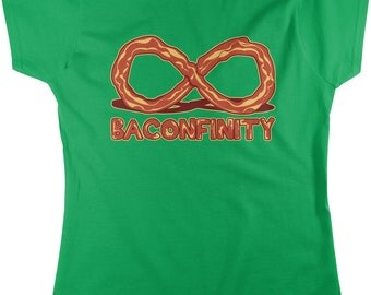 Baconfinity, I Love Bacon, Bacon Forever, Bacon Strip Women's T-shirt, NOFO_00153
