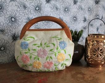 Vintage 60's Flower handbag