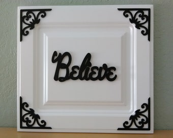 Black and White Inspirational Wall Plaques - great gifts too!