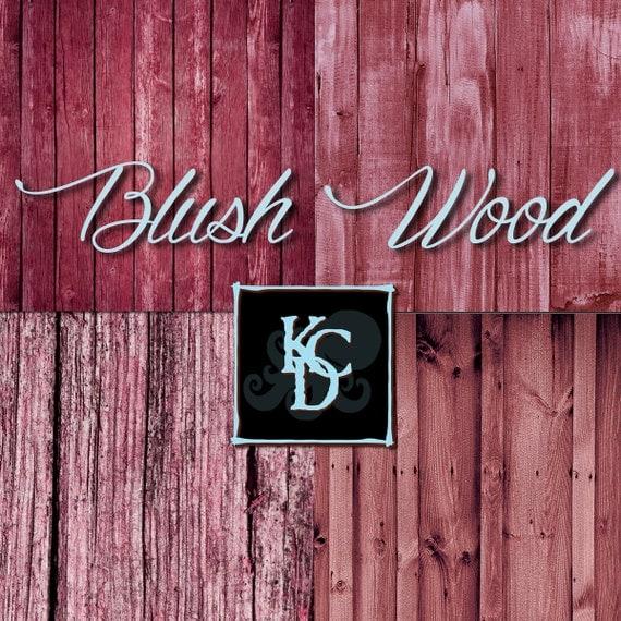 Digital Paper Blush Wood Rustic Texture Shabby Chic Boho