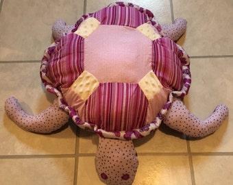 Handmade Purple Butterfly Turtle Pillow