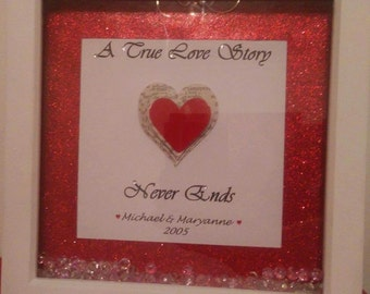 A True Love Story! Frame, personalised for you!
