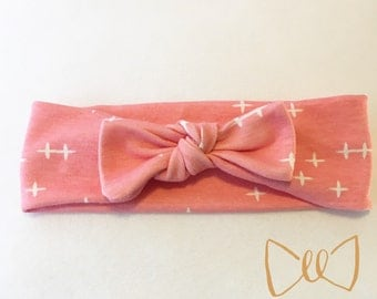 Pink Organic Cotton Knit Headband