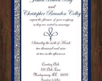 PrintYourOwn Blue Royal Wedding Invitation