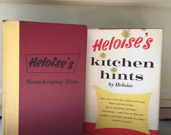 Heloise's Housekeeping Hints, 1962 Edition and Heloise's Kitchen Hints, 1963 Edition