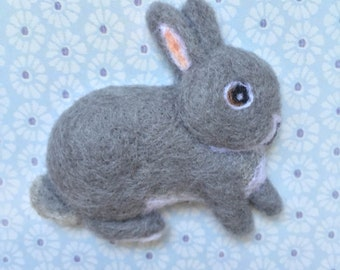 Dutch Rabbit Needle-felt Wool Brooch