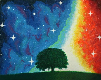 Night Sky | Matte Professional Print of Original Painting