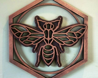 Bronze Resin Bee Plaque