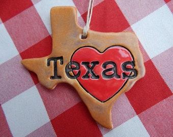 Texas Ornament, Heart Texas, Texas Christmas Ornament