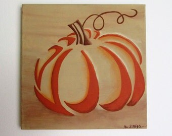 """Shade of Pumpkin - 12"""" x 12"""" Acrylic on Stretched Canvas"""