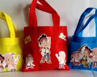 """20Jake and the Neverland Pirates Party Favors Bags, Jake and the Neverland Pirates Favors, Candy Bags,Favor Bags Small 7""""X6"""" or medium 8""""X8"""""""