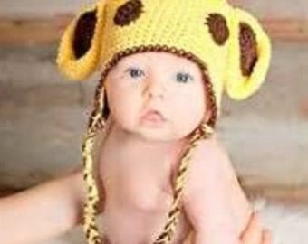 new born baby boy/girl giraffe crouchet hat
