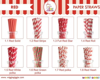 Red Paper Straw