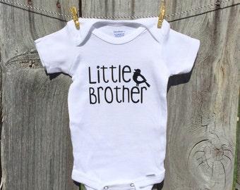 Little brother onesie, litter brother shirt, litte brother bird onesie, little brother onsie, new baby onesie