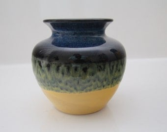 Pretty vase in blue and yellow - maybe Strehla