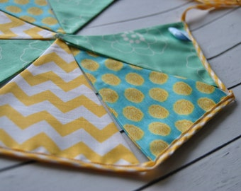 Garland Banner Flags Double Sided Bunting pennant fabric flag banner