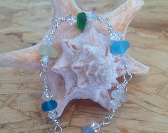 Bright Seaglass bracelet