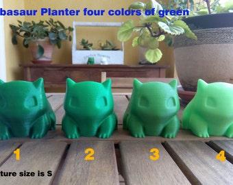Bulbasaur Planter printed 3D GREEN COLORS