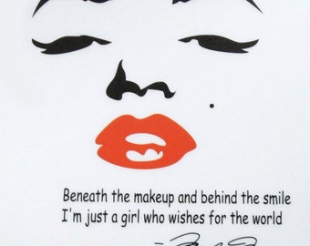 MARILYN MONROE QUOTE - Free Shipping !!