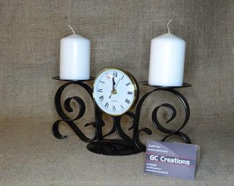 2 pillar candle\clock Candelabra