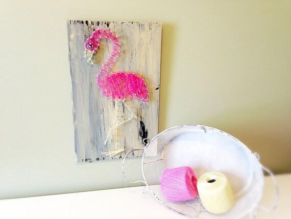 Flamingo Party Flamingo Wall Art String Art Pink Flamingo