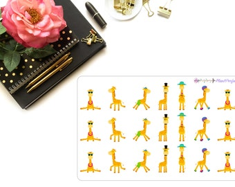 Giraffe Planner Stickers/Giraffe Stickers. Perfect for your planning and scrapbooking needs!