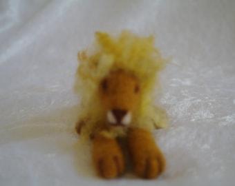 Handmade needle felted Lion
