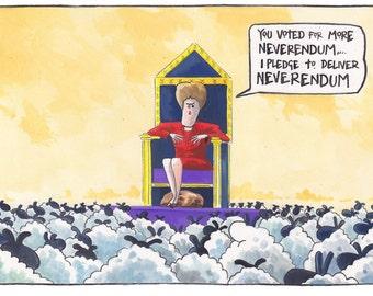 Nicola Sturgeon. Scottish Neverendum Referendum