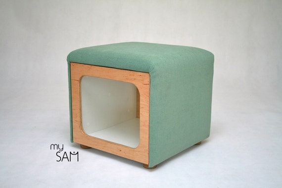 Storage Ottoman Upholstered Ottoman Pouf Coffee Table By Mysamshop