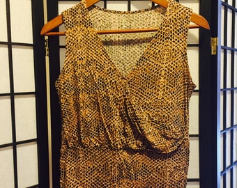 Neutral Snake Print Top - Small