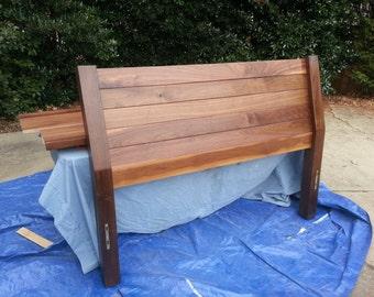 Solid walnut headboard/Bedframe
