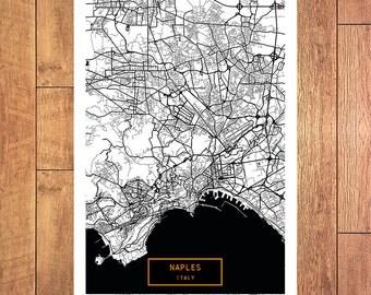 NAPLES Italy CANVAS Large Art City Map Naples Italy Art Print poster map art jt Wall Art Home Decor JackTravelMap