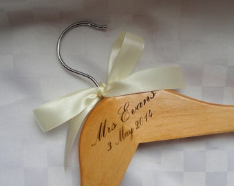 Personalized MRS hanger, Engraved wedding hangers, Personalised hanger, Customized hangers