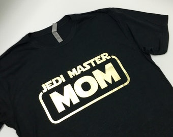 Jedi Master Mom in Black/Gold